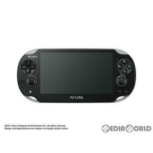 『中古即納』{本体}{PSVita}PlayStation Vita 3G/Wi-Fiモデル クリスタル・ブラック(PCH-1100AA01)(20111217)|media-world