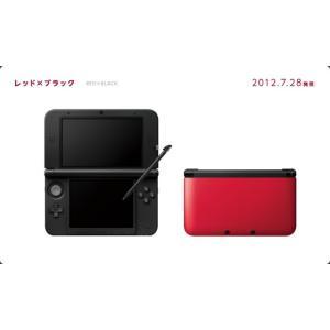 『中古即納』{本体}{3DS}ニンテンドー3DS LL レッド×ブラック(SPR-S-RKAA)(20120728)|media-world