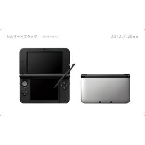 『中古即納』{本体}{3DS}ニンテンドー3DS LL シルバー×ブラック(SPR-S-VKAA)(20120728)|media-world