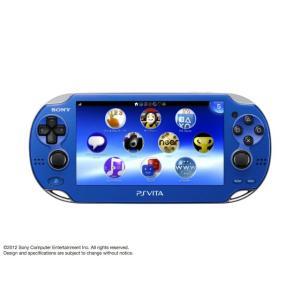 『中古即納』{本体}{PSVita}PlayStation Vita 3G/Wi-Fiモデル サファイア・ブルー 初回限定版(PCH-1100AB04)(20121115)|media-world
