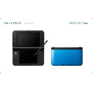 『中古即納』{本体}{3DS}ニンテンドー3DS LL ブルー×ブラック(SPR-S-BAKK)(20121011)|media-world