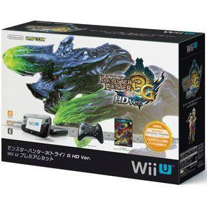 『中古即納』{WiiU}(本体)モンスターハンター3(トライ)G HD Ver. Wii U プレミアムセット(Kuro/クロ/黒)(WUP-S-KAFD)(20121208)|media-world