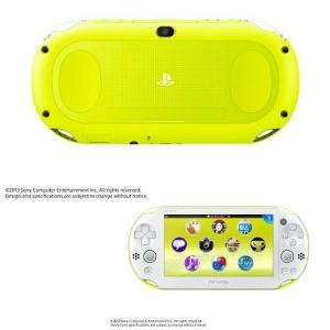 『中古即納』{本体}{PSVita}PlayStationVita Wi-Fiモデル ライムグリーン/ホワイト(PCH-2000ZA13)(20131010)