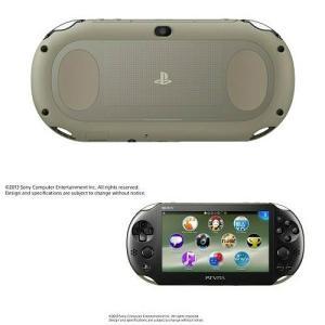 『中古即納』{本体}{PSVita}PlayStationVita Wi-Fiモデル カーキ/ブラック(PCH-2000ZA16)(20131010)