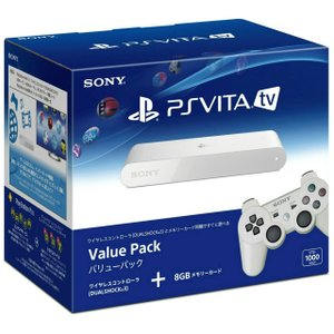 『中古即納』{本体}{PSVita}PlayStationVita TV Value Pack(バリューパック)(VTE-1000AA01)(20131114)|media-world