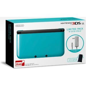 『中古即納』{本体}{3DS}ニンテンドー3DS LL リミテッドパック ターコイズ×ブラック(SPR-S-BNAF)(20131128)|media-world