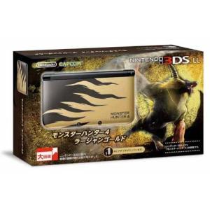 『中古即納』{本体}{3DS}ニンテンドー3DS LL モンスターハンター4 ラージャンゴールド(SPR-S-DLAB)(20140327)|media-world