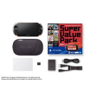 『中古即納』{本体}{PSVita}PlayStation Vita Super Value Pack Wi-Fiモデル レッド/ブラック(PCHJ-10018)(20140710)|media-world
