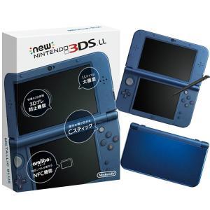 『中古即納』{本体}{3DS}Newニンテンドー3DS LL メタリックブルー(RED-S-BAAA)(20141011)