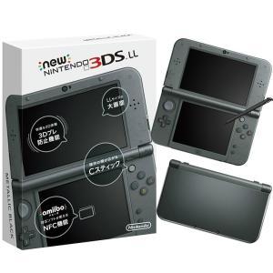 『中古即納』{本体}{3DS}Newニンテンドー3DS LL メタリックブラック(RED-S-VAAA)(20141011)|media-world