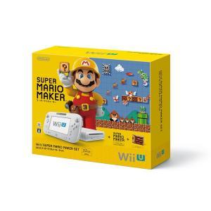 『中古即納』{本体}{WiiU}Wii U スーパーマリオメーカー セット(WUP-S-WAHA)(...