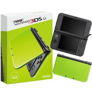 『中古即納』{本体}{3DS}Newニンテンドー3DS LL ライム×ブラック(RED-S-MAAA)(20160609)