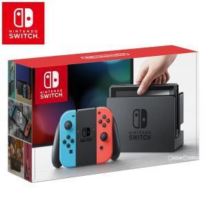 『中古即納』{本体}{Switch}Nintendo Switch(ニンテンドースイッチ) Joy-Con(L) ネオンブルー/(R) ネオンレッド(HAC-S-KABAA)(20170303)|media-world