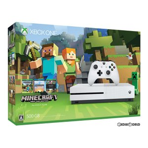 『中古即納』{本体}{XboxOne}Xbox One S 500GB Minecraft 同梱版(ZQ9-00068)(20170126)|media-world