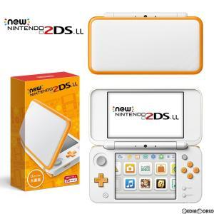 『新品即納』{本体}{3DS}Newニンテンドー2DS LL ホワイト×オレンジ(JAN-S-OAAA)(20170713)|media-world