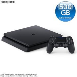 『中古即納』{本体}{PS4}プレイステーション4 PlayStation4 ジェット・ブラック 500GB(CUH-2100AB01)(20170724)|media-world