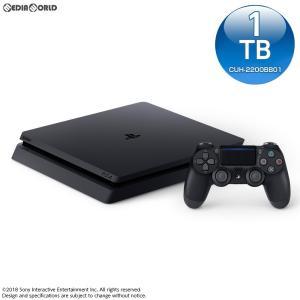 『中古即納』{本体}{PS4}プレイステーション4 PlayStation4 ジェット・ブラック 1TB(CUH-2200BB01)(20180712)|media-world