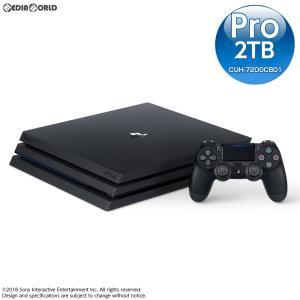『中古即納』{本体}{PS4}プレイステーション4 プロ PlayStation4 Pro ジェット・ブラック 2TB(CUH-7200CB01)(20181121)|media-world