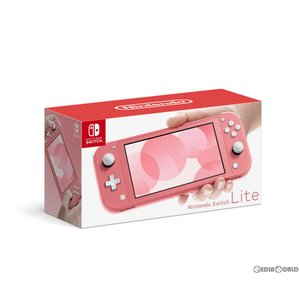 『中古即納』{本体}{Switch}Nintendo Switch Lite(ニンテンドースイッチライト) コーラル(HDH-S-PAZAA)(20200320)|media-world