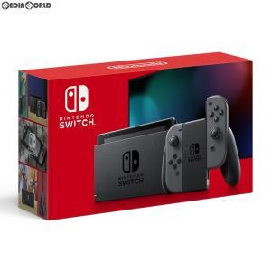 『中古即納』{未使用}{本体}{Switch}Nintendo Switch(ニンテンドースイッチ) Joy-Con(L)/(R) グレー(HAD-S-KAAAA)(20190830)|media-world
