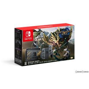 『中古即納』{本体}{Switch}(ソフト無し)Nintendo Switch(ニンテンドースイッチ) モンスターハンターライズ スペシャルエディション(HAD-S-KGAGL)(20210326) media-world