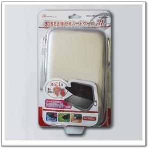 『新品』『O倉庫』{ACC}{3DS}3DSLL用 セミハードケース3L シルバー アンサー(ANS-3D026SV)(20120728)|media-world
