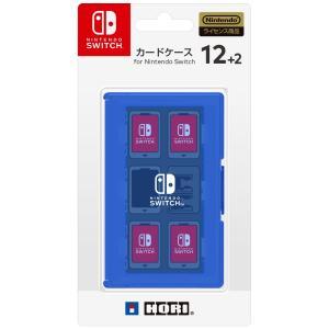 『新品』『お取り寄せ』{ACC}{Switch}カードケース12+2 for Nintendo Switch(ニンテンドースイッチ) ブルー HORI (NSW-022)(20170303)|media-world