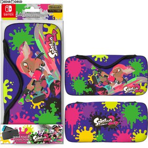『新品即納』{ACC}{Switch}QUICK POUCH COLLECTION for Nintendo Switch Splatoon2 Type-A(スイッチ クイックポーチ スプラトゥーン2) キーズファクトリー|media-world