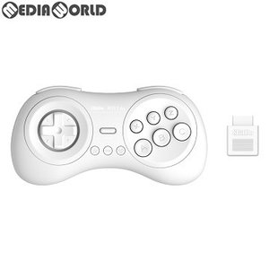『予約前日出荷』{ACC}{MD}8BitDo M30 2.4G Wireless GamePad(ワイヤレス ゲームパッド) for MD ホワイト サイバーガジェット(CY-8BDM30W-WH)(2019年4月下旬)|media-world