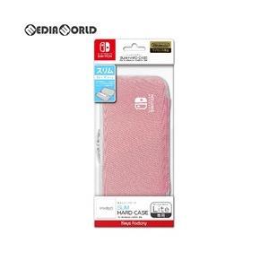 『予約前日出荷』{ACC}{Switch}SLIM HARD CASE(スリムハードケース) for Nintendo Switch Lite ペールピンク キーズファクトリー(HSH-001-2)(20190920)|media-world