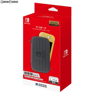 特価⇒『新品即納』{ACC}{Switch}タフポーチ for Nintendo Switch Lite(ニンテンドースイッチライト) ブラック×グレー HORI(NS2-014)(20190920)|media-world