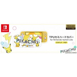 『予約前日出荷』{ACC}{Switch}TPUセミハードカバー for Nintendo Switch Lite(ニンテンドースイッチライト) ピカチュウ - POP HORI(NS2-069)|media-world