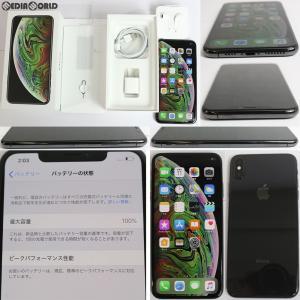 『中古即納』iPhoneXS Max 64GB(スペースグレイ) SIMフリー Apple(アップル)|media-world