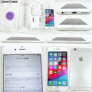 『中古即納』iPhone6 16GB(シルバー) ソフトバンク(SoftBank) Apple(アップル)(MG482J)|media-world