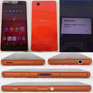 『中古即納』Xperia Z3 Compact SO-02G(オレンジ) ドコモ(docomo) ソニーモバイル(ASO89959)|media-world