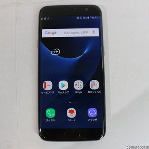 『中古即納』GALAXY S7 edge SCV33(ブラックオニキス) au SAMSUNG(サムスン)(SCV33MKA)|media-world