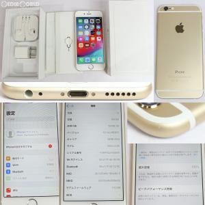 『中古即納』iPhone6 64GB(ゴールド) au Apple(アップル)(MG4J2J)|media-world