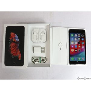 『中古即納』iPhone6sPlus 128GB(スペースグレイ) ドコモ(docomo) Apple(アップル)(MKUD2J)|media-world