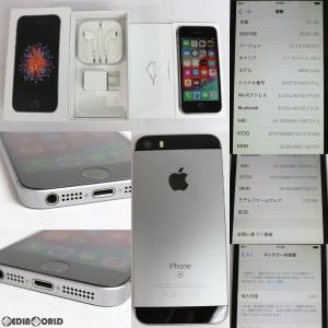 『中古即納』iPhoneSE 32GB(スペースグレイ) ソフトバンク(SoftBank) Apple(アップル)(MP822J)|media-world