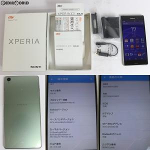 『中古即納』{SP}Xperia Z3 SOL26(シルバーグリーン) au ソニーモバイル(SOL26MSA) media-world