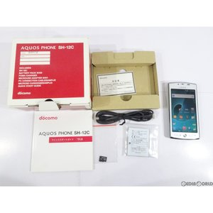 『中古即納』{SP}AQUOS PHONE SH-12C(ホワイト) ドコモ(docomo) シャープ(ASH08452)|media-world
