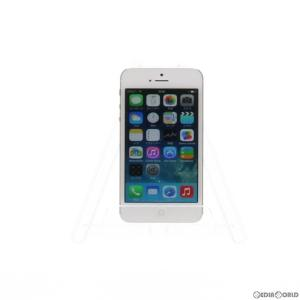 『中古即納』{SP}iPhone5 16GB(ホワイト&シルバー) ソフトバンク(SoftBank) Apple(アップル)(MD298J)|media-world