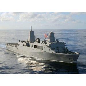 『新品即納』{PTM}CH7096 1/700現用アメリカ海軍サン・アントニオLPD-17 w/MV-22Bオスプレイ プラモデル サイバーホビー(20140420)|media-world
