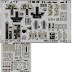 『新品即納』{PTM}M72-34 1/72 航空自衛隊 T-2用 エッチングパーツ プラモデル用 プラッツ(20140720)|media-world