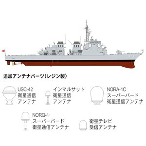 『新品即納』{PTM}JB24 1/350 海上自衛隊 護衛艦 DDG-174 きりしま プラモデル ピットロード(20150120)|media-world