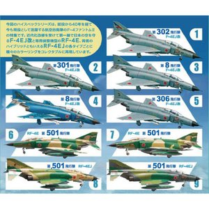 『新品即納』{PTM}ハイスペックシリーズ vol.2 航空自衛隊 F-4 ファントムII(BOX) プラモデル F-toys(エフトイズ)(20150414)|media-world