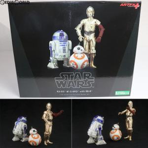 『中古即納』{FIG}ARTFX+ R2-D2 & C-3PO with BB-8 STAR WARS(スター・ウォーズ)/フォースの覚醒 1/10 簡易組立キット フィギュア(SW114) コトブキヤ|media-world
