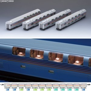 『予約安心出荷』{RWM}(再販)HO-089 JR E26系特急寝台客車(カシオペア)増結セットA(4両) HOゲージ 鉄道模型 TOMIX(トミックス)(2018年2月)|media-world