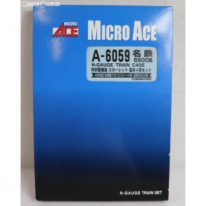 『中古即納』{RWM}A6059 名鉄5500系 特別整備後 スカーレット 基本4両セット Nゲージ 鉄道模型 MICRO ACE(マイクロエース)(20090930)|media-world