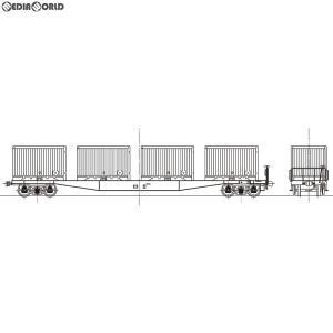 『予約安心出荷』{RWM}16番 国鉄 コキ5500形 コンテナ車(27000〜28554) 組立キット HOゲージ 鉄道模型 ワールド工芸(2019年8月)|media-world